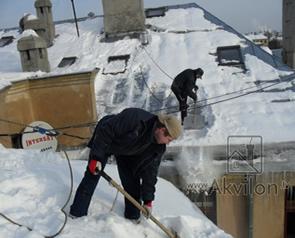 Норма времени на работы по очистке кровли от снега